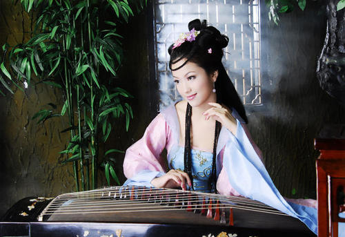 女人花曲谱古筝