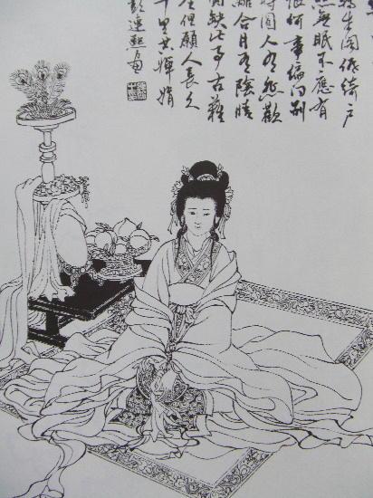 古代公主简笔画 手绘