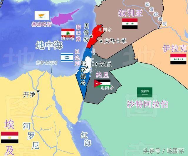 周边阿拉伯国家多次群殴以色列,每次都被以色列打败.